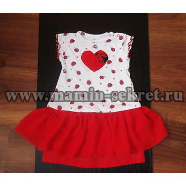 Шьём платье для малышки из бодика