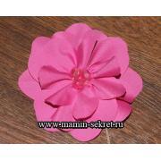 Как сделать простой цветок из ткани