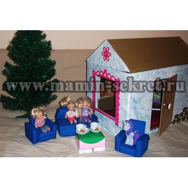 Диван и кресло для куклы своими руками