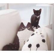 Схемы вязания на спицах с кошками