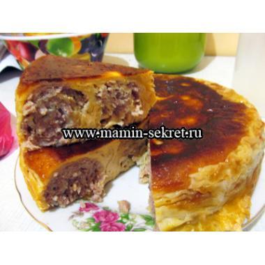 Ленивый пирог с мясом в мультиварке