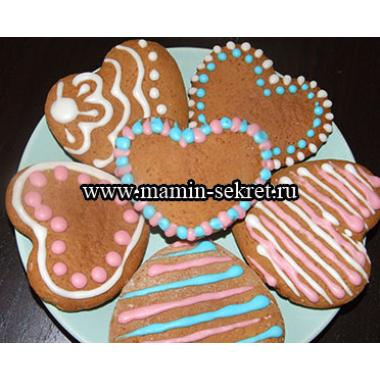 Медовое печенье с сахарной глазурью