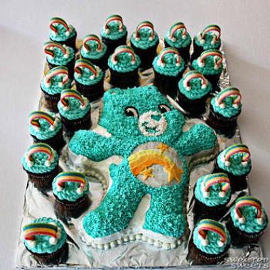 """Украшение торта по мультфильму """"Заботливые мишки"""" care bears"""
