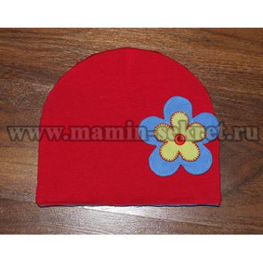 Двухсторонняя шапка из трикотажа