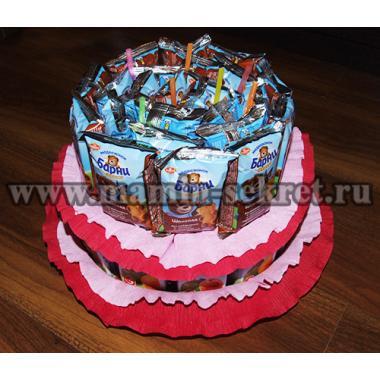 Торт из сладостей в детский сад