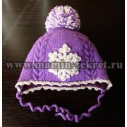 Вязанная шапка для девочки схема и описание