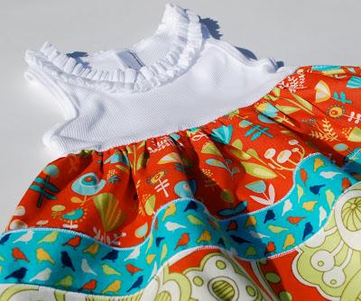 Переделка детского комбинезона в платье