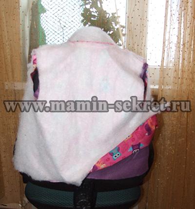 как сшить тёплую стёганную жилетку для ребёнка