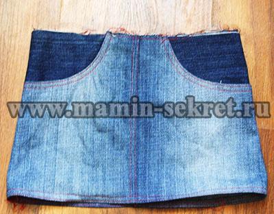 как сшить джинсовую юбку для девочки
