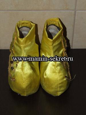 Как сшить обувь для костюма петрушки (гнома) мастер класс
