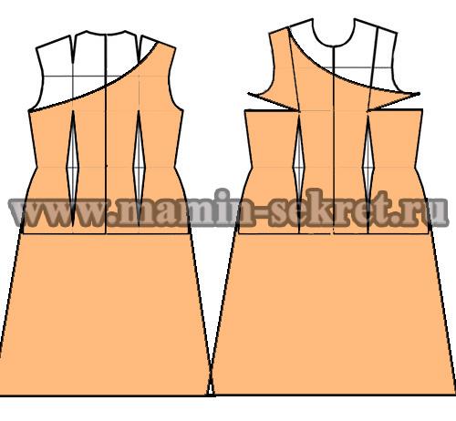 как сшить летнее платье с оборками