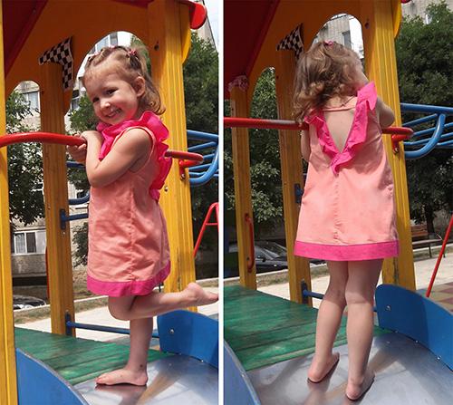 как сшить детское  платье с оборками