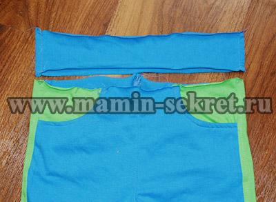 Выкройка спортивных брюк для ребёнка